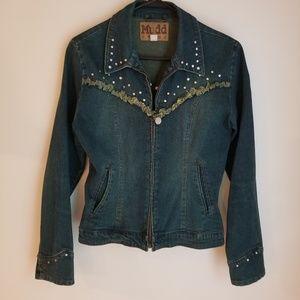 Mudd Zip Distressed Jean Jacket